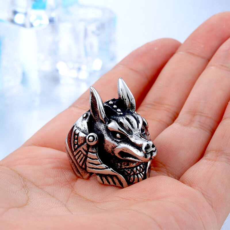 316L Stainless Steel League legend Game Nasus Role Ring For Men Top Quality Amulet Viking.jpg - League of Legend Nasus Stainless Steel Ring