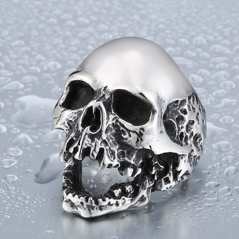 Beier Unique Original Style Skull For Man Stainless Steel Punk Man s High Quality Personality Men 800x800 - Unique Big Skull Stainless Steel Ring