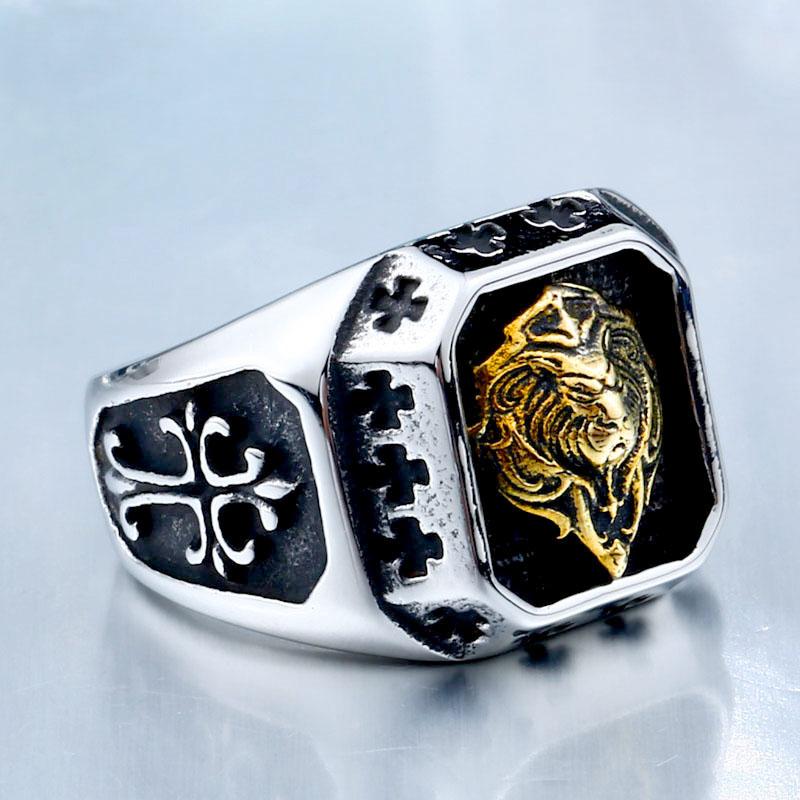 Lion Head Amulet Ring 3 - Lion Head Amulet Ring
