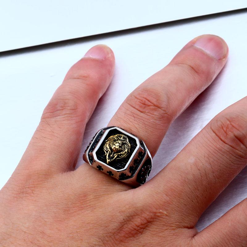 Lion Head Amulet Ring 4 - Lion Head Amulet Ring