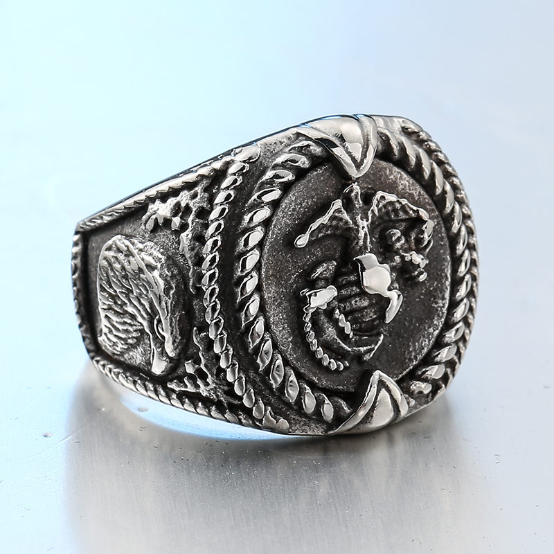 New Design Retro style stainless steel Unique United States Army Ring 800x800 - United States Army Stainless Steel Ring