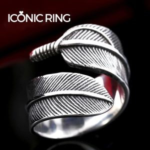 Retro Gothic Feather Ring 2 300x300 - Retro Gothic Feather Ring