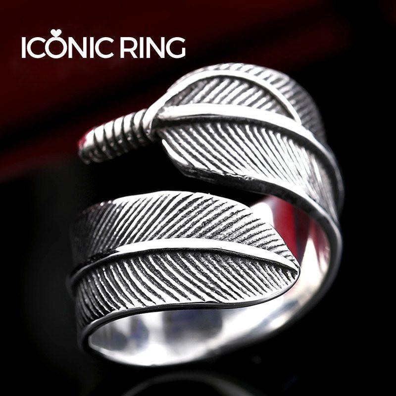 Retro Gothic Feather Ring 2 800x800 - Retro Gothic Feather Ring