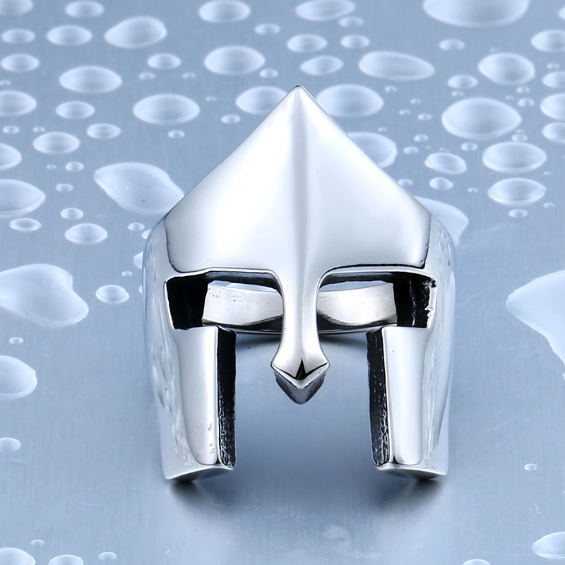 Sale New Cool Rings For Men Stainless Steel Spartacus Mask Movie Ring - Spartacus Mask Movie Stainless Steel Ring