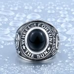 Stainless Cool Unique Black Stone Titanium Steel Wheel Of Fortune Tarot Obsidian Ring For Man BR8 150x150 - Wheel Of Fortune Obsidian Titanium Steel Ring