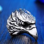Stainless Steel For Man High Quality Cool Punk Eagle Men s Animal Ring 150x150 - EagleHead Stainless Steel Ring
