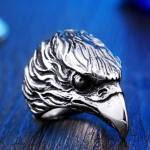 Stainless Steel For Man High Quality Cool Punk Eagle Men s Animal Ring 300x300 - Eagle Head Stainless Steel Ring