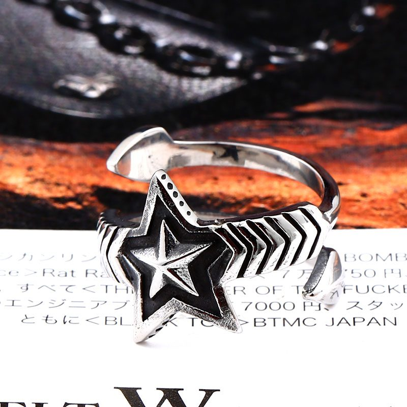 cody sanderson star stainless steel ring 03 800x800 - Cody Sanderson Star Stainless Steel Ring