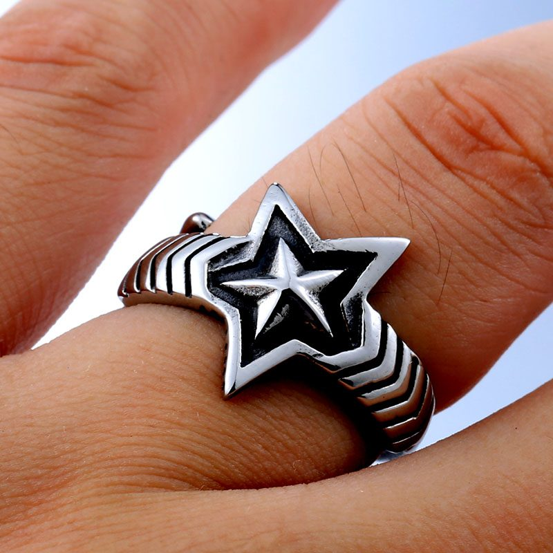 cody sanderson star stainless steel ring 05 800x800 - Cody Sanderson Star Stainless Steel Ring
