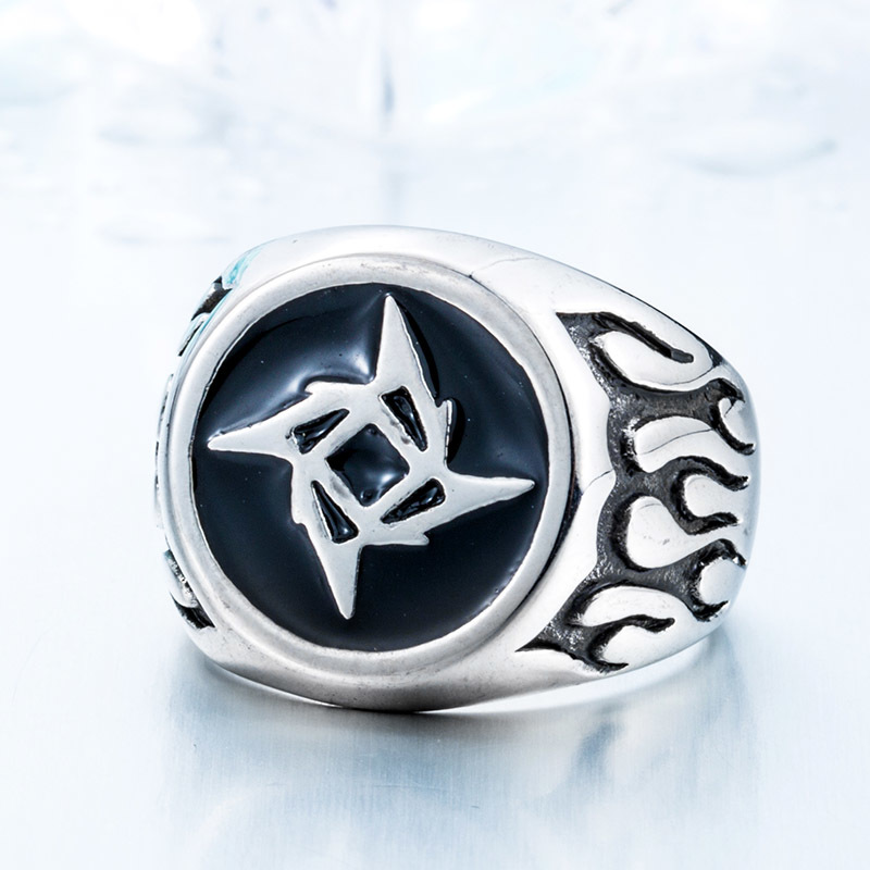 New Metallica Ninja Star Rings Super Hot Jewelry 316L Stainless Steel Man s 2017 Fashion Ring - Metallica Ninja Star Ring
