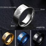 got gal5 150x150 - Game of Thrones Ice Wolf Stainless Steel Ring