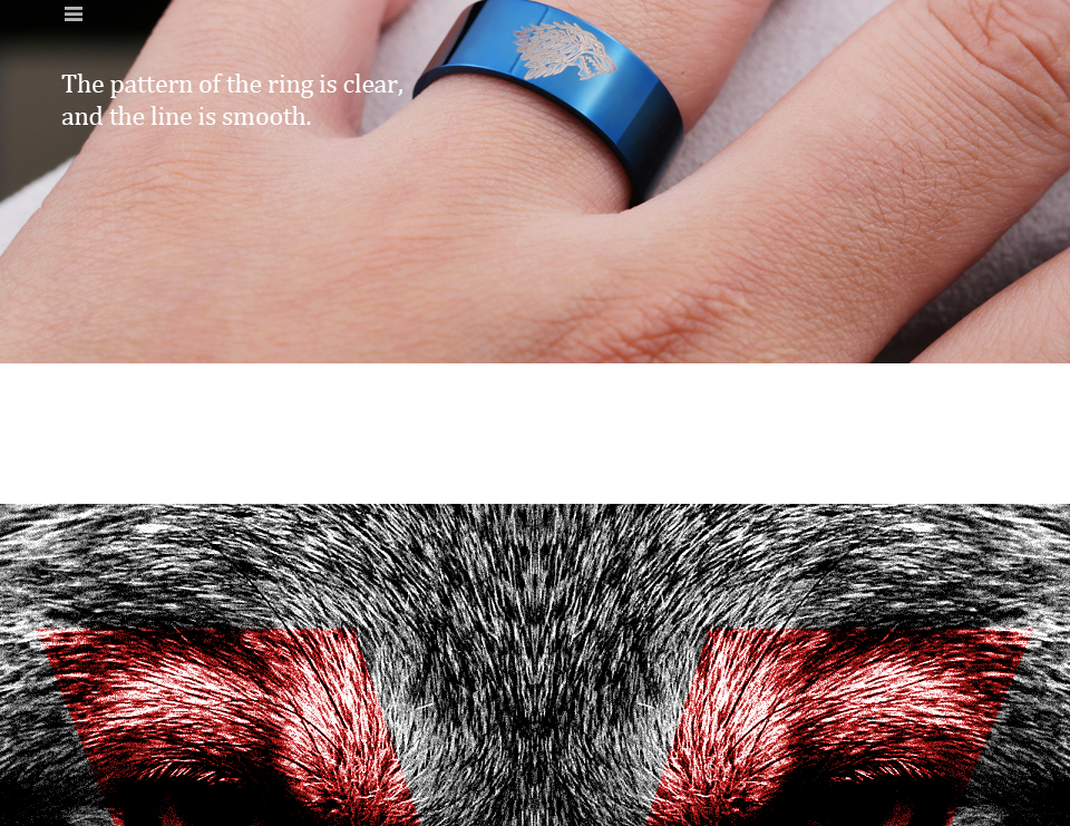 got21b - Game of Thrones Ice Wolf Stainless Steel Ring