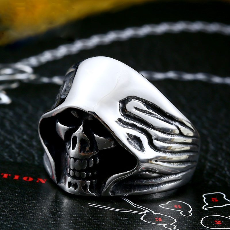 mysterious death smile 2 800x800 - Mysterious Death Smile Stainless Steel Ring