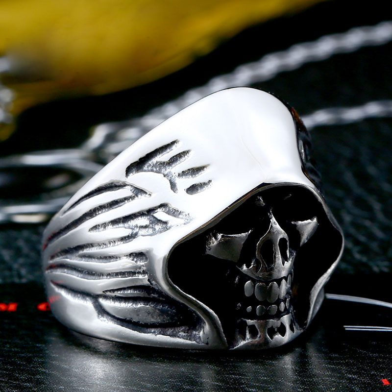 mysterious death smile 3 800x800 - Mysterious Death Smile Stainless Steel Ring