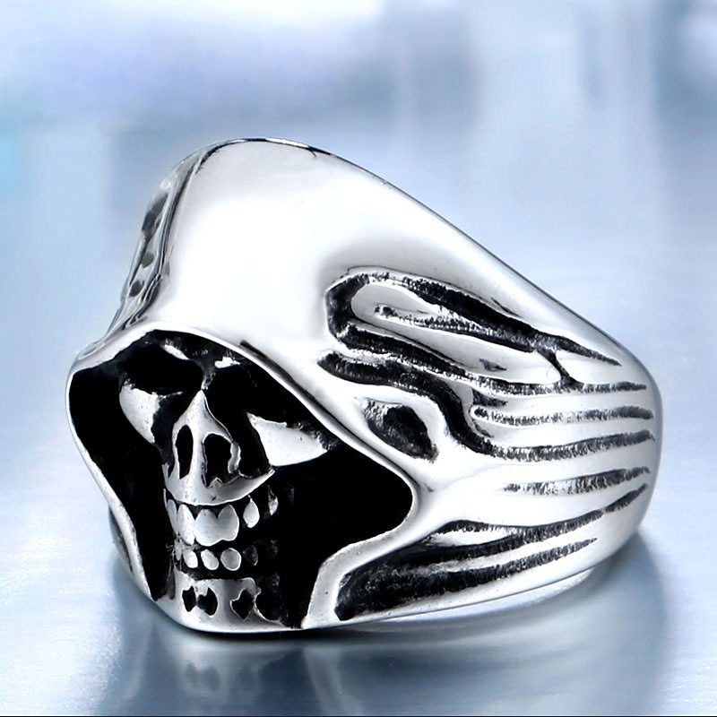 mysterious death smile 5 800x800 - Mysterious Death Smile Stainless Steel Ring