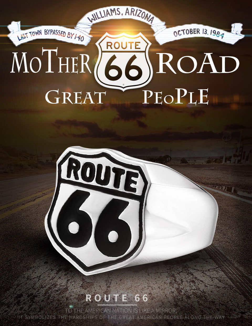 route 66 1 - USA Biker Road ROUTE 66 Ring