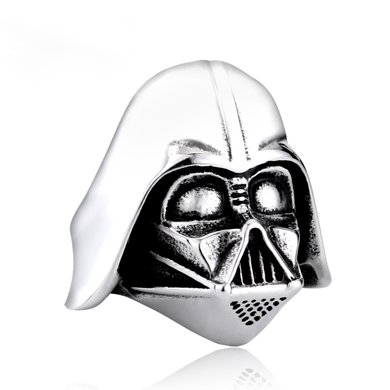 star wars 1 - Star Wars Darth Vader Mask Stainless Steel Ring
