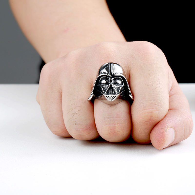 star wars 4 - Star Wars Darth Vader Mask Stainless Steel Ring