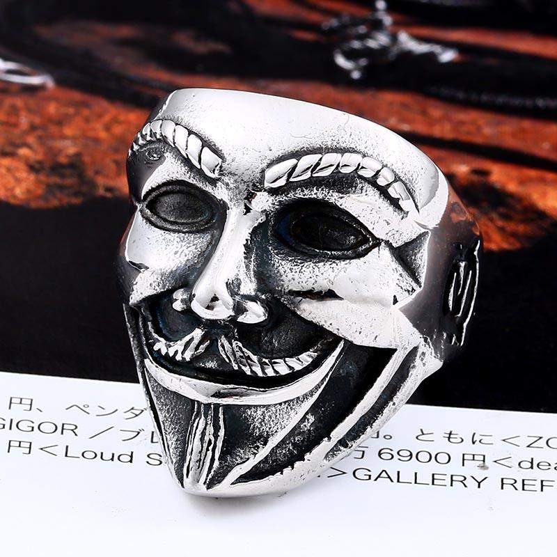 v for vendetta2 - V for Vendetta Stainless Steel Ring