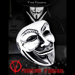 v for vendetta5 300x300 - V for Vendetta Stainless Steel Ring