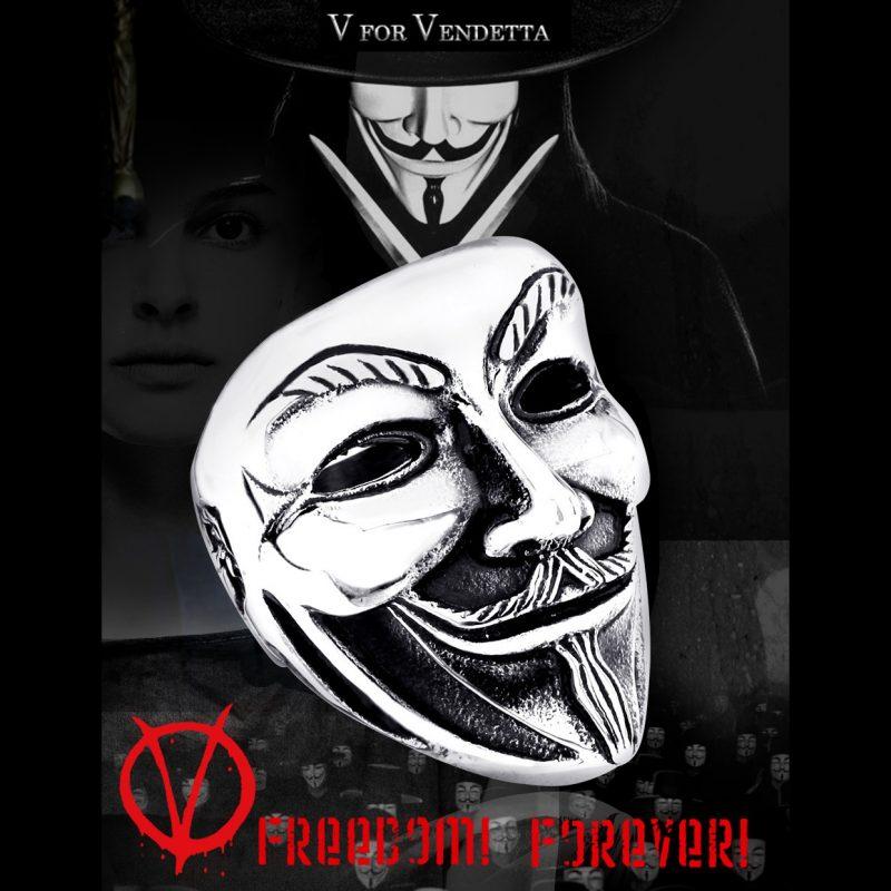 v for vendetta5 800x800 - V for Vendetta Stainless Steel Ring