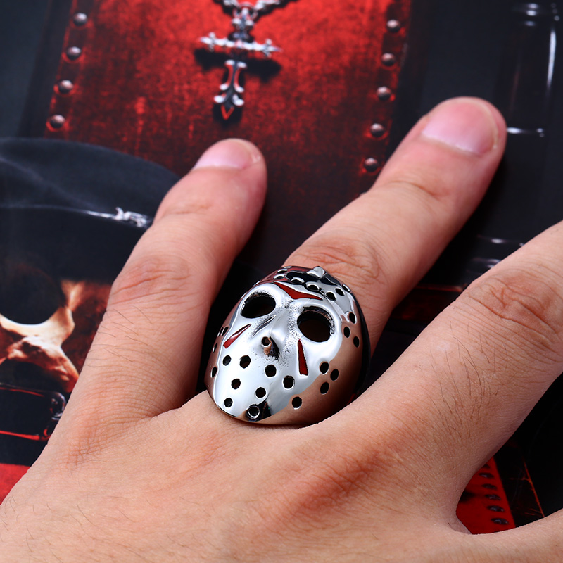 Friday the 13th Jason Voorhees 06 - Jason Voorhees Friday the 13th Stainless Steel Ring