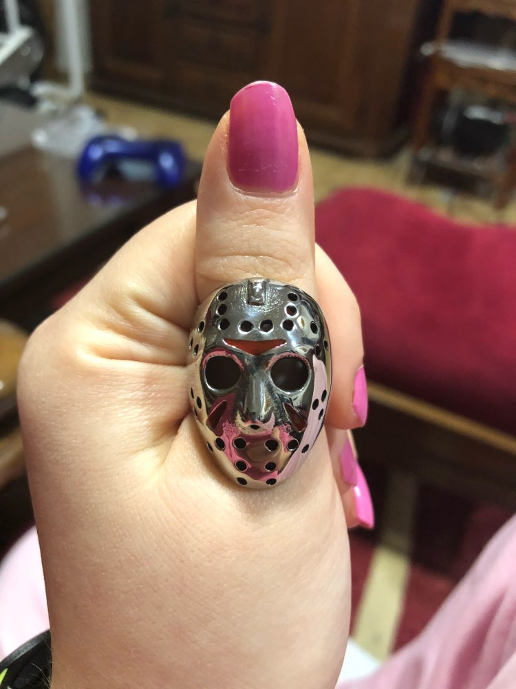 Jason Voorhees Friday the 13th Stainless Steel Ring - Iconic Ring