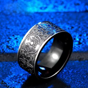 azure dragon 2 300x300 - Azure Dragon Stainless Steel Ring