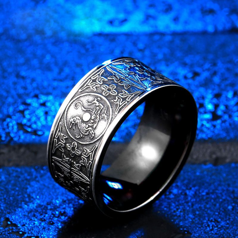 azure dragon 2 800x800 - Azure Dragon Stainless Steel Ring