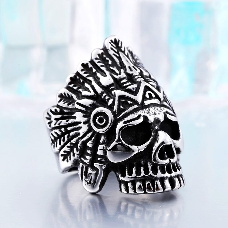 indiana skull stainless steel ring 4 800x800 - Indiana Skull Stainless Steel Ring