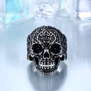 garden flower skull ring 3 300x300 - Garden Flower Skull Ring