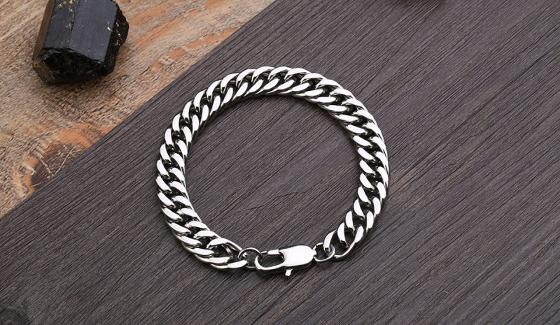 gourmete bracelet 5 800x465 - High Polish Gourmette Bracelet