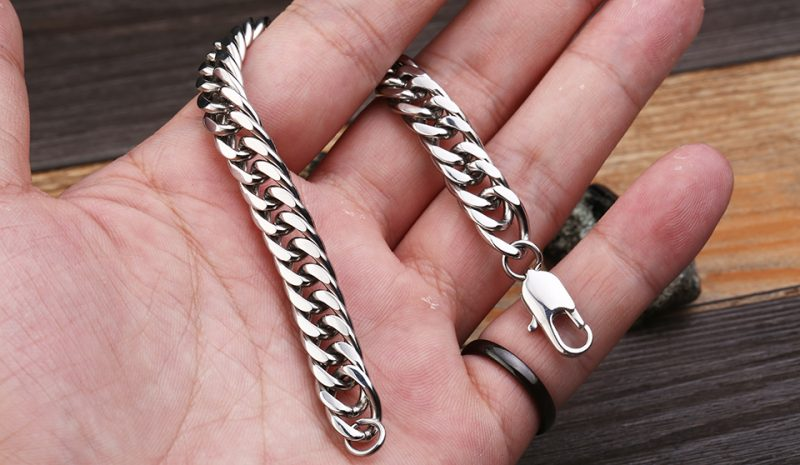 gourmete bracelet 7 800x465 - High Polish Gourmette Bracelet