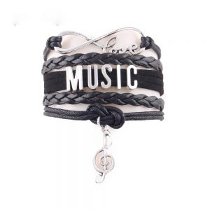 love music note charm bracelet 1 300x300 - Love Music Note Charm Bracelet