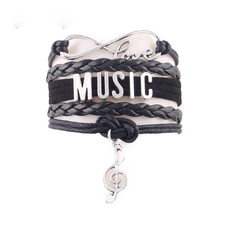 love music note charm bracelet 1 800x800 - Love Music Note Charm Bracelet