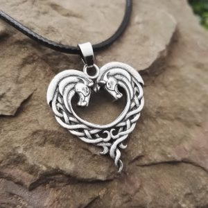 Celtic horse necklace 1 300x300 - Celtic Horse Heart Necklace
