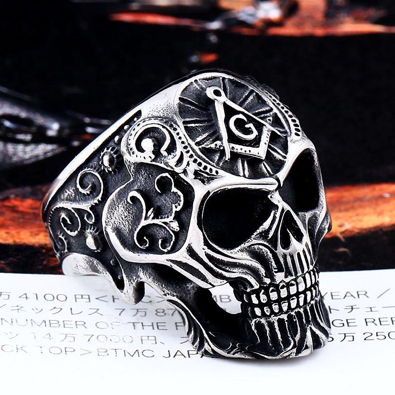 Masonic Skull Ring 2 - Masonic Skull Ring