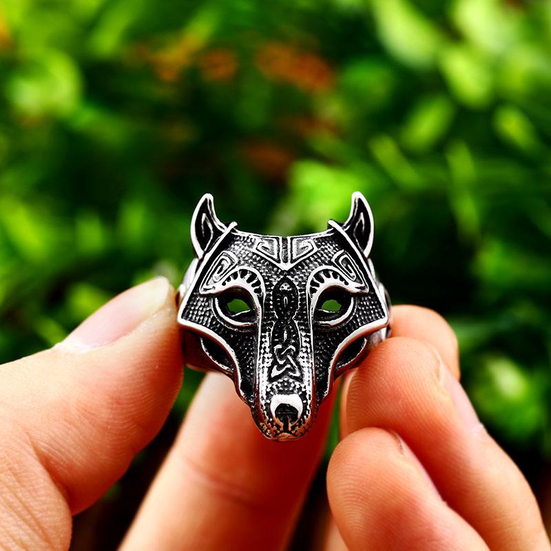Norse Viking Wolf Ring 5 - Viking Fenrir Wolf Ring