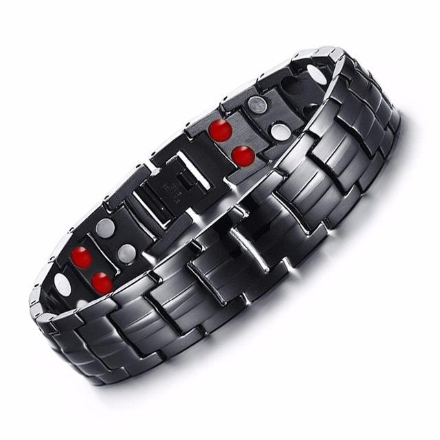 Punk bio energy magnetic therapy bracelet 1 - Punk Bio-Energy Magnetic Therapy Bracelet