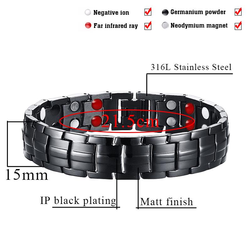 Punk bio energy magnetic therapy bracelet 2 - Punk Bio-Energy Magnetic Therapy Bracelet