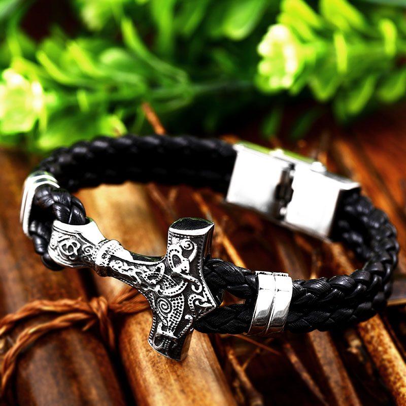 Thor Mjolnir Hammer bracelet 4 800x800 - Thor Mjolnir Hammer Bracelet