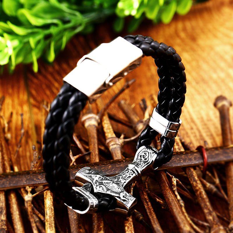 Thor Mjolnir Hammer bracelet 6 800x800 - Thor Mjolnir Hammer Bracelet