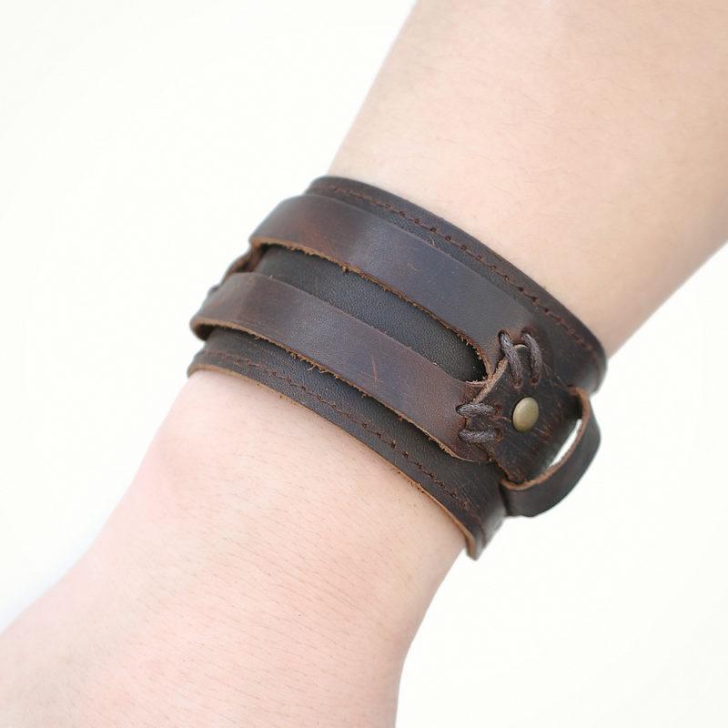 11047 d38e0307c151e4ec34c5ede39592b8ed 800x800 - Men's Punk Wide Leather Bracelet