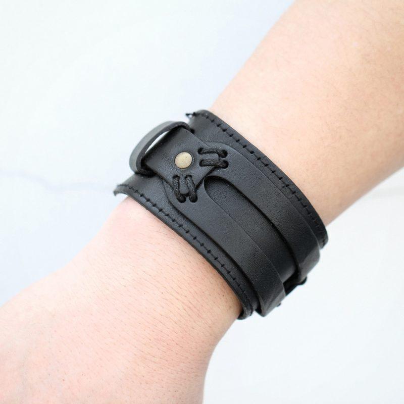 11047 edc8d5249336963f8d54657385c4030c 800x800 - Men's Punk Wide Leather Bracelet