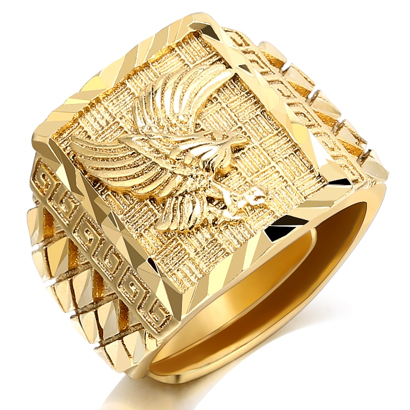 11176 5804624b1aede76ea0f80b0ce4652524 - Luxurious Eagle Engraving Ring for Men
