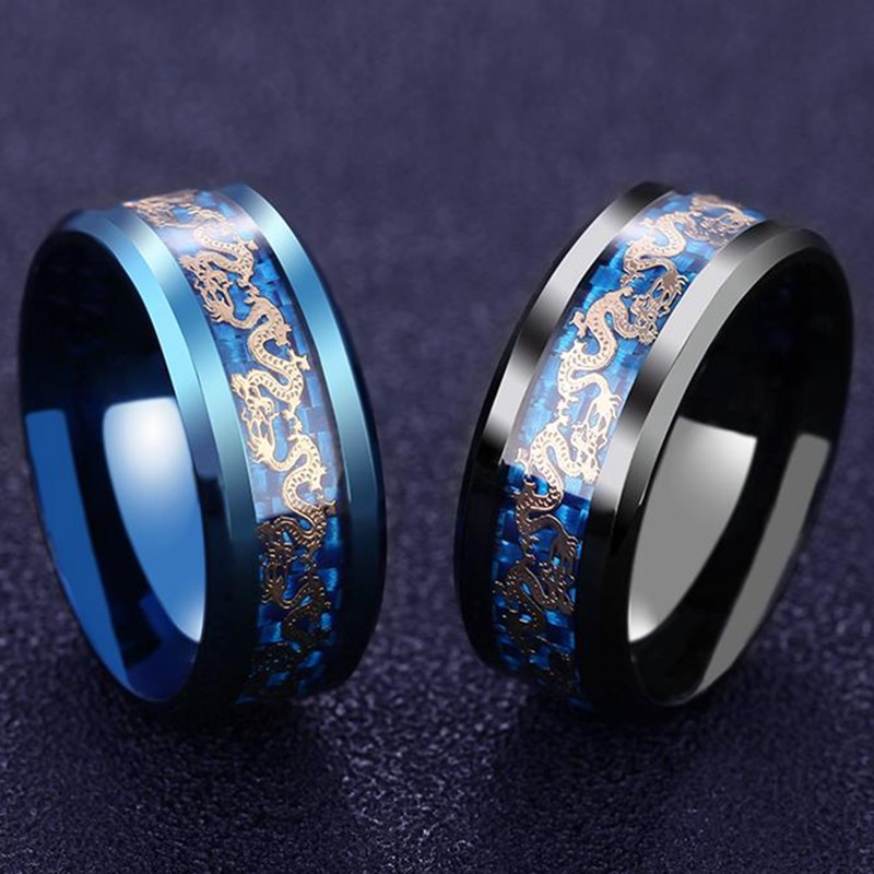 11179 4037fddae0a248b683755a0c20302667 - Men's Dragon Styled Titanium Ring