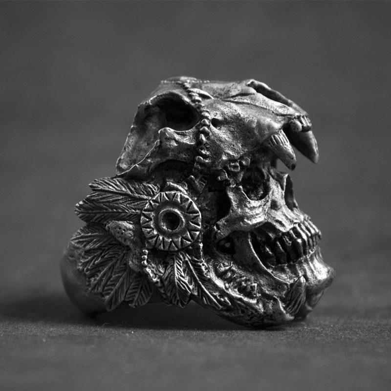 11237 92c0f33fe47b3898cd5379cd14c58e85 800x800 - Men's Skull Shaped Ring