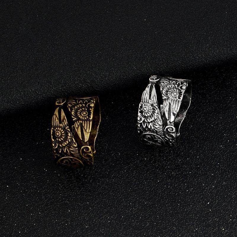 11255 a7cad3b0b9ee2258465bd30849c5ff4b - Ravens Patterned Men's Ring