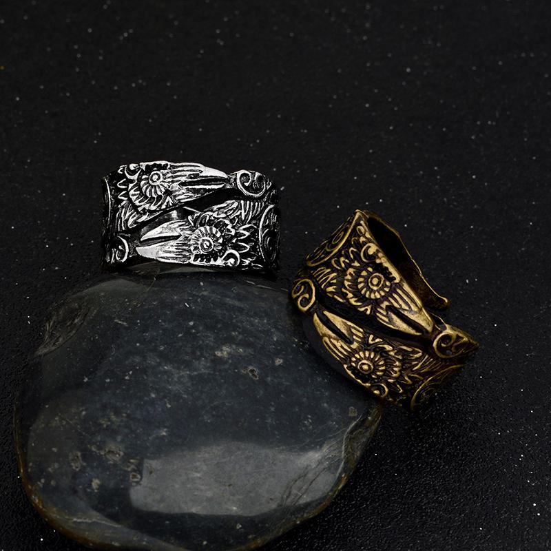 11255 e162bda6f63366823b368e9203f15d6b - Ravens Patterned Men's Ring