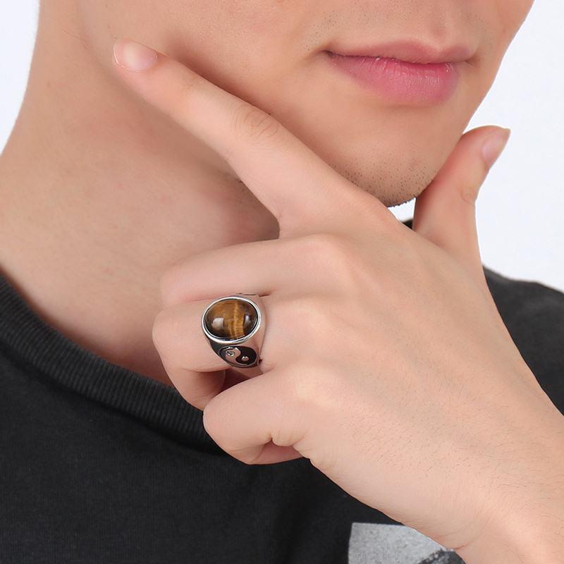 11393 5f41635309d7c12e437fff96ba41a52f - Tiger Eye Stone Yin Yang Symbol Ring